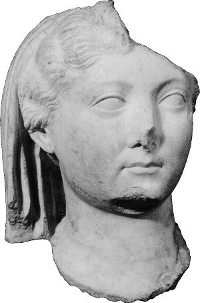 Portrait of Livia Drusilla found in the forum during excavations led by Bottini