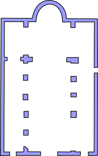 Plan of the small church of St. Marcus