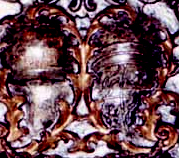 Sanseverino and Aragon's coats of arms at the center of late baroque altar-front in the Church of Holy Rosary