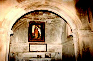 Interior of St. Catherine Church before restoring (photo by V.Falasca)