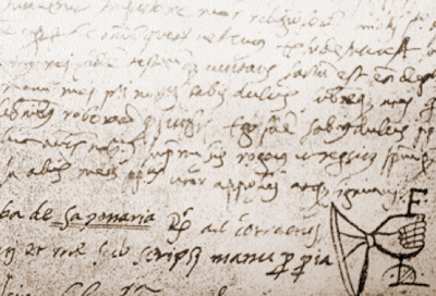 "Parchment of 1562 with the caption ""Saponara"""